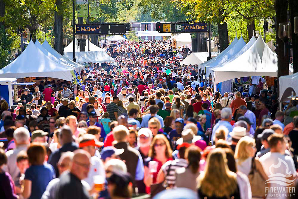 Main Street at the Fall for Greenville Festival - Downtown Greenville, SC