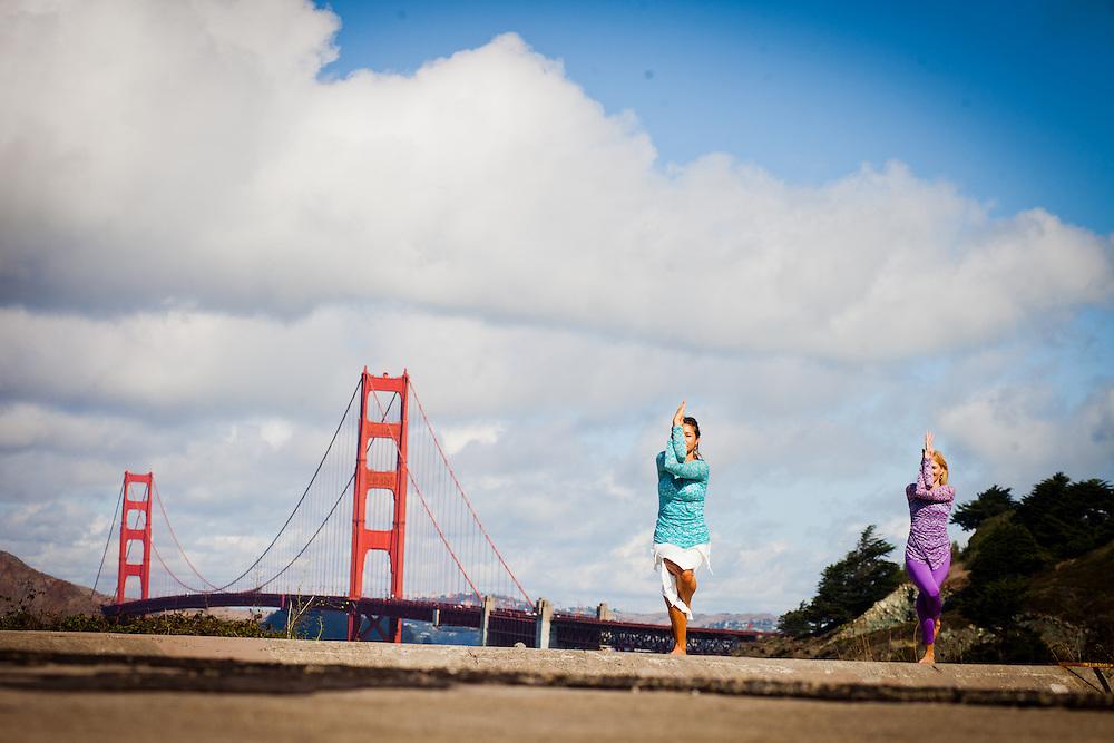 Tara Dale & Daria Gershman near the Golden Gate Bridge, San Francisco