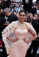 Sonam Kapoor at the gala screening for the film Loving at the 69th Cannes Film Festival, Monday 16th May 2016, Cannes, France. Photography: Doreen Kennedy