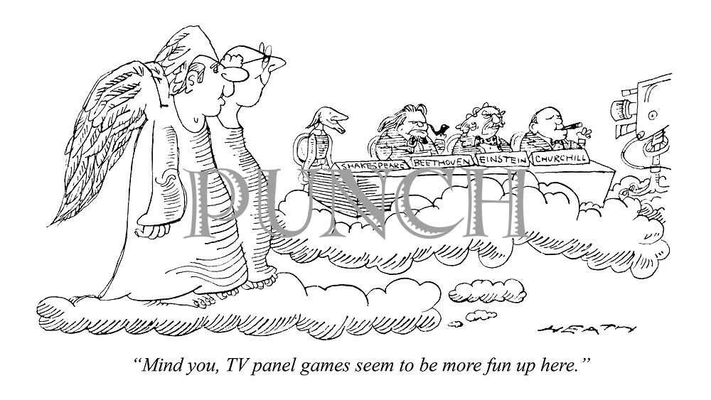 """Mind you, TV panel games seem to be more fun up here."""