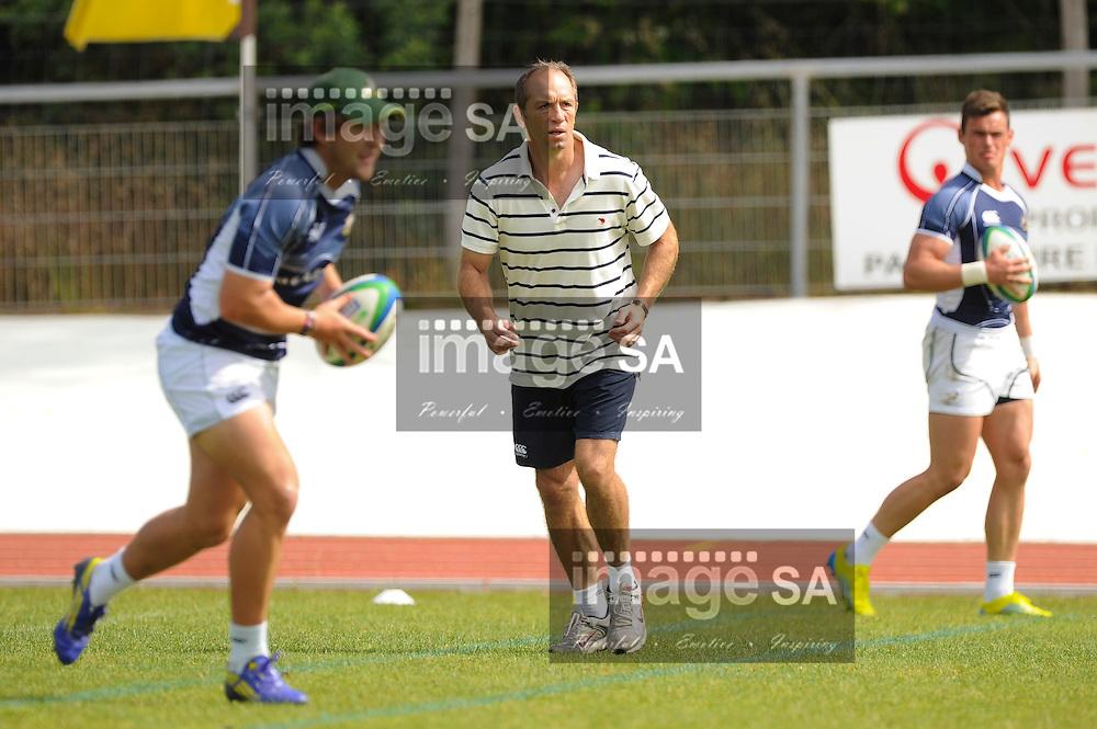 LES SABLES D'OLONNE, FRANCE - JUNE 12: Brendan Venter, assistant coach, during the South African U/20 captains run at Stade de la Rudelière on June 12, 2013 in Les Sables d' Olonne, France. (Photo by Roger Sedres/Gallo Images)