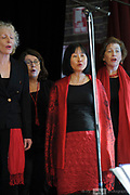Tuxedo Junction choir performing in the Guildford Town Hall, part of the 2018 Guildford Songfest