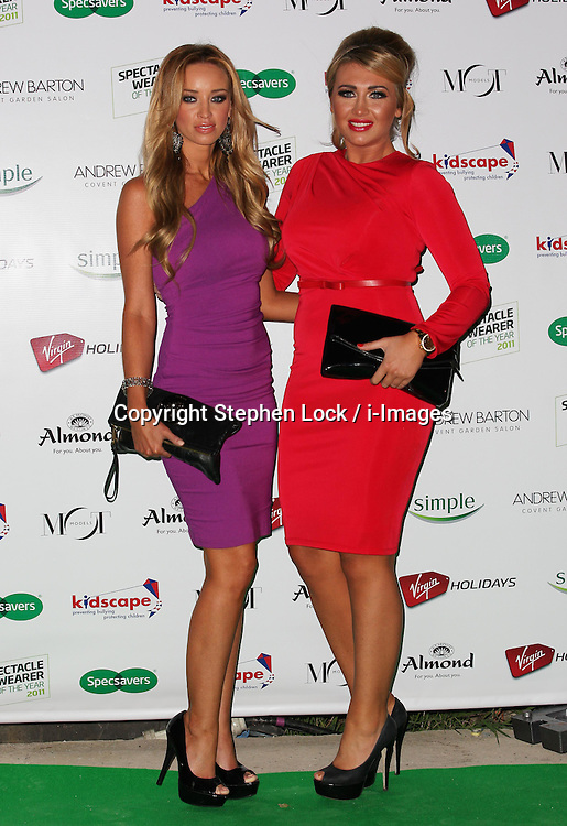 Lauren Pope and Lauren Goodger arriving at the Spectacle Wearer of the Year Awards in London, Tuesday, 15th November 2011. Photo by: Stephen Lock / i-Images
