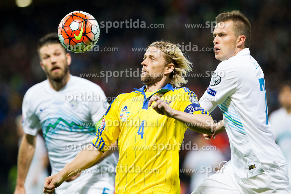 Anatoliy Tymoshchuk (UKR) during the UEFA EURO 2016 Play-off for Final Tournament, Second leg between Slovenia and Ukraine, on November 17, 2015 in Stadium Ljudski vrt, Maribor, Slovenia. Photo by Urban Urbanc / Sportida