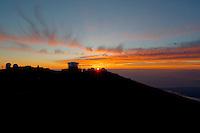 Sunset over Haleakala Satellite Tracking Station from Pu'U'Ula'Ula peak in Haleakala National Park, Maui Hawaii. Image taken with a Nikon D3x and 24 mm f/3.5 PC-E lens (ISO 100, f/16, 1/10 sec). Photomatix HDR (5 images)