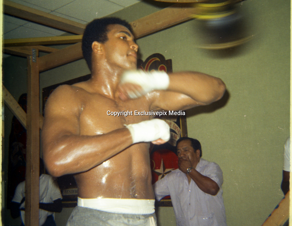 EXCLUSIVE<br /> This exclusive set taken of Muhammed Ali in training before his fight with Rudi Lubbers in 1973<br /> ©Exclusivepix Media