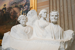 The Portrait Monument to pioneers of women's suffrage in the Capitol building in Washington DC in the United States. From a series of travel photos in the United States. Photo date: Friday, March 30, 2018. Photo credit should read: Richard Gray/EMPICS