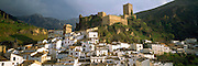 SPAIN, ANDALUSIA CAZORLA; pretty mountain town with castle, below the Sierra de Cazorla Mountains, north of Granada