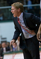 January 30, 2010; San Francisco, CA, USA;  Gonzaga Bulldogs head coach Mark Few yells at his team during the second half against the San Francisco Dons at the War Memorial Gym.  San Francisco defeated Gonzaga 81-77 in overtime.
