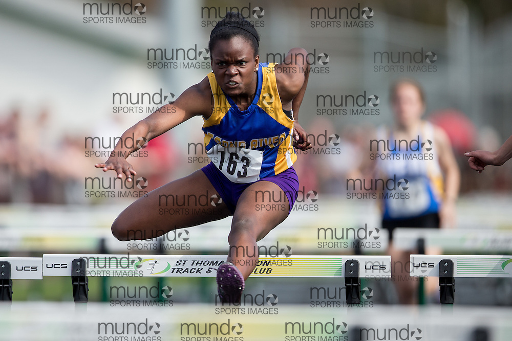 St.Thomas, Ontario --- 20150502 --- competes in the  at the 2015 Kettle Creek Invitational Track and Field meet in St. Thomas, Ontario, May 2, 2015.<br /> GEOFF ROBINS/ Mundo Sport Images
