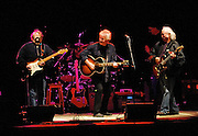 Stephen Stills, Graham Nash and David Crosby, Crosby Stills and Nash, on stage.