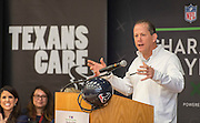 Houston Texans President Jamey Rootes comments during the Houston launch of the Character Playbook, a joint initiative of the NFL and the United Way Worldwide at Pilgrim Academy, February 3, 2017.