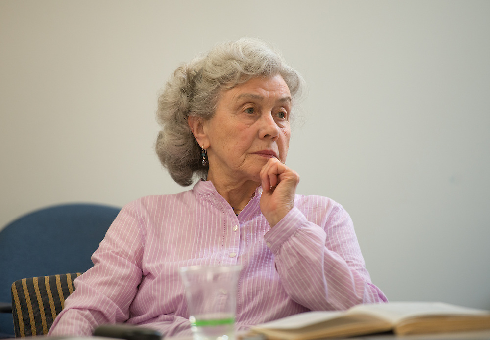 Ursel Maier listens and participates in a panel discussion aobut Nazi Germany during a summer teaching program sposnsored by Ohio University. Photo by Ben Siegel/ Ohio University