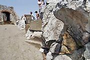 Spanje, Gibraltar, 8-6-2006Een van de wilde apen  van Gibraltar. Ze zijn een atractie voor de toeristen.Britse kroonkolonie. Spanje wil de rots terug.Foto: Flip Franssen/Hollandse Hoogte