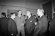 16/11/1966<br /> 11/16/1966<br /> 16 November 1966<br /> Palgrave Murphy/North Sea Ferries reception to announce the appointment of agents for North Sea Ferries in the Republic of Ireland and new Ireland - Europe travel link, at Palgrave Murphy, Eden Quay Dublin. (l-r): Mr. John Gordon, Managing Director, Palgrave Murphy Ltd.;  Mr. Peter Young, Director Palgrave Murphy Ltd.; Mr. Ian Churcher, General Manager, North Sea Ferries and Major Derek Gray, Assistant Secretary R.I.A.C. at the reception.