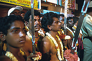 Veerakumaras awaiting the arrival of Karaga