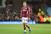 Aston Villa midfielder Jack Grealish (10) during the EFL Sky Bet Championship match between Aston Villa and Nottingham Forest at Villa Park, Birmingham, England on 28 November 2018.