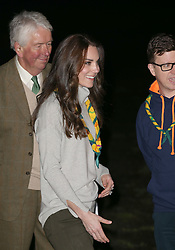 The Duchess of Cambridge arrives at The Scout and Guide Hut at North Wootton, near King's Lynn, for an event to celebrate the to celebrate 100 years of the Cub Scout movement.