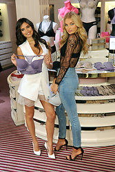 July 18, 2017 - New York, NY, USA - July 18, 2017 New York City..VictoriaÃ•s Secret Angels Elsa Hosk and Sara Sampaio show off the T-Shirt Bra Collection  at the VictoriaÃ•s Secret 5th Avenue Store on July 18, 2017 in New York City. (Credit Image: © Kristin Callahan/Ace Pictures via ZUMA Press)