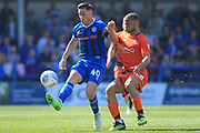 Ian Henderson controls the ball during the EFL Sky Bet League 1 match between Rochdale and Wycombe Wanderers at Spotland, Rochdale, England on 19 April 2019.