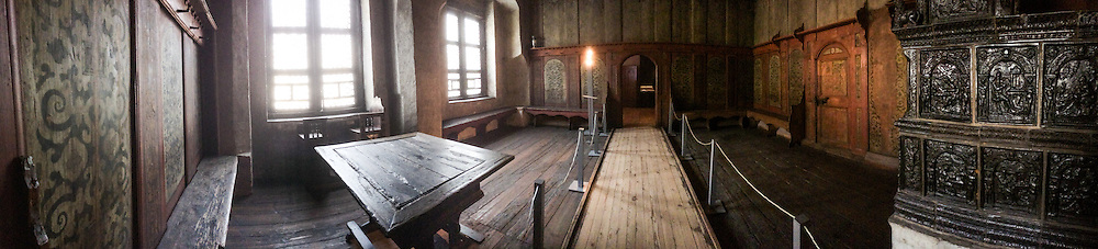 A panoramic image made from an iPhone 5s Inside the Luther House living room showing the table Martin Luther sat with contemporaries on January 30, 2014 in Wittenberg, Germany. LCMS Communications/Erik M. Lunsford