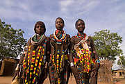 Young girls from the Hamer tribe, Turmi, Omovalley,Ethiopia,Africa