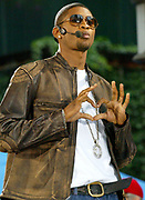 NEW YORK - JUNE 14:  R & B singer Usher performs on Good Morning America June 14, 2002 in New York City.  (Photo by Matthew Peyton)