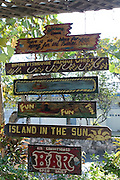 Handpainted bar sign at the Compleat Angler Bar, once a haunt of Ernst Hemingway along the King's Highway in Alice Town on the tiny Caribbean island of Bimini, Bahamas