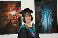 18/04/2017 REPRO FREE:  <br /> MFA Graduate Sherry Erskine at the 13th conferring ceremony, held in the Minstrels gallery the 16th century Newtown Castle at the heart of the BCA campus, exemplifies the continued success of the Burren&rsquo;s  alternative model of art education . The Irish and  international graduates included Elizabeth Matthews, conferred with  a PhD for her research on Utopian studies , and six international graduates whose work on display in the BCA gallery addressed the ultimate question, &ldquo;who am I called to be&rdquo; In her address President of the college Mary Hawkes Greene referred to the unique place based educational  model  committed to  individual student centred  education accredited by NUIGalway , and how it effectively  embraces the often conflicting forces of the global and the local, the public and the private as well as the collective and the individual. <br /> .  Photo:Andrew Downes, xposure