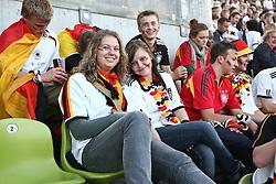 23.06.2010, Olympiapark, Muenchen, GER, FIFA Worldcup, Puplic Viewing Ghana vs Deutschland  im Bild weiblichr Fans auf der Trib¸ne, EXPA Pictures © 2010, PhotoCredit: EXPA/ nph/  Straubmeier