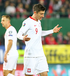 21.03.2019, Ernst Happel Stadion, Wien, AUT, UEFA EM Qualifikation, Oesterreich vs Polen, im Bild Robert Lewandowski (POL) // during the UEFA European Championship qualification, group G match between Austria and Poland at the Ernst Happel Stadion in Wien, Austria on 2019/03/21. EXPA Pictures © 2019, PhotoCredit: EXPA/ Alexander Forst