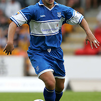 St Johnstone v Clyde....05.08.07<br />Derek Young who played as a trialist for St Johnstone today and has subsequently signed a contract<br /><br />Picture by Graeme Hart.<br />Copyright Perthshire Picture Agency<br />Tel: 01738 623350  Mobile: 07990 594431