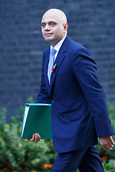 © Licensed to London News Pictures. 04/11/2014. LONDON, UK. Culture Secretary Sajid Javid attending to a cabinet meeting in Downing Street on Tuesday 4 November 2014. Photo credit: Tolga Akmen/LNP