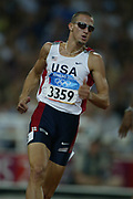 Jeremy Wariner of the United States won the 400 meters in a career-best 44.00  in the 2004 Olympics in Athens, Greece on Monday, August 23, 2004.