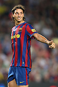 FC Barcelona's Zlatan Ibrahimovic during La Liga match.August 31 2009.
