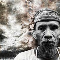 Homeless person, Jakarta, Indonesia