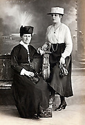 1900s studio portrait of mother with adult daughter