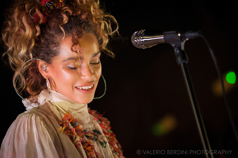 Singer Izzy Bizu performing  live at Koko theatre in London on 14 September 2016