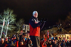 March 9, 2019 - –Stersund, Sweden - 190309 Johannes Thingnes Bö of Norway celebrates at the medal ceremony for the Men's 10 KM sprint during the IBU World Championships Biathlon on March 9, 2019 in Östersund..Photo: Petter Arvidson / BILDBYRÃ…N / kod PA / 92253 (Credit Image: © Petter Arvidson/Bildbyran via ZUMA Press)