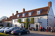 The Hoste Arms public house ( pub ) bar and restaurant at Burnham Market in North Norfolk, UK