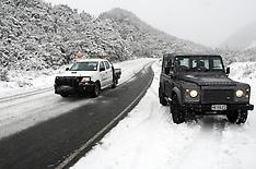 Ohakune-Snow blankets the lower slopes of Mt Ruapehu