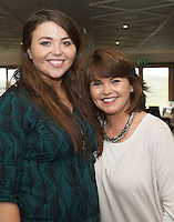 23/08/2015 REPRO FREE  Grace and Michelle Barry from Clifden  at Connemara Golf Club in Ballyconneely Co Galway  where Ryan Tubridy received honorary Life Membership from the Club .<br /> Photo:Andrew Downes, xposure.
