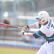 UNCW's Steven Linkous follows though on a swing against Wake Forest Sunday February 22, 2015 during the Hughes Brothers Challenge at Brooks Field. (Jason A. Frizzelle)