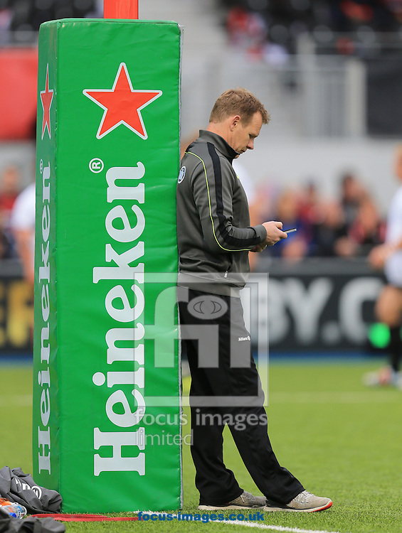 Mark McCall before the European Rugby Champions Cup match at Allianz Park, London<br /> Picture by Michael Whitefoot/Focus Images Ltd 07969 898192<br /> 18/10/2014