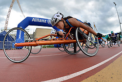 05/08/2017; Floch, Elizabeth, T54, USA, Dederick, Hannah, Rainbow-Cooper, Eden, GBR at 2017 World Para Athletics Junior Championships, Nottwil, Switzerland