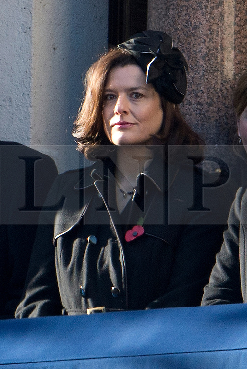 © London News Pictures. 11/11/2012. London, UK. Miriam Gonzalez Durantez, wife of Deputy Prime Minister Nick Clegg look on during the Remembrance Day Ceremony at the Cenotaph on November 13, 2011 in London, United Kingdom. Politicians and Royalty joined the rest of the county in honouring the war dead by gathering at the iconic memorial to lay wreaths and observe two minutes silence. Photo Credit: Ben Cawthra/LNP