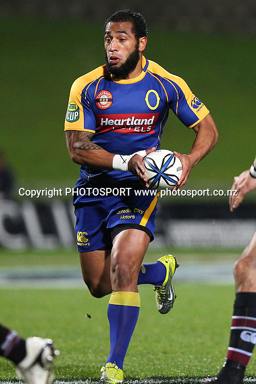 Otago's Fetu'u Vainikolo in action. ITM Cup rugby union match, North Harbour v Otago at North Harbour Stadium, Albany, Auckland, New Zealand. Thursday 19th August 2010. Photo: Anthony Au-Yeung/PHOTOSPORT