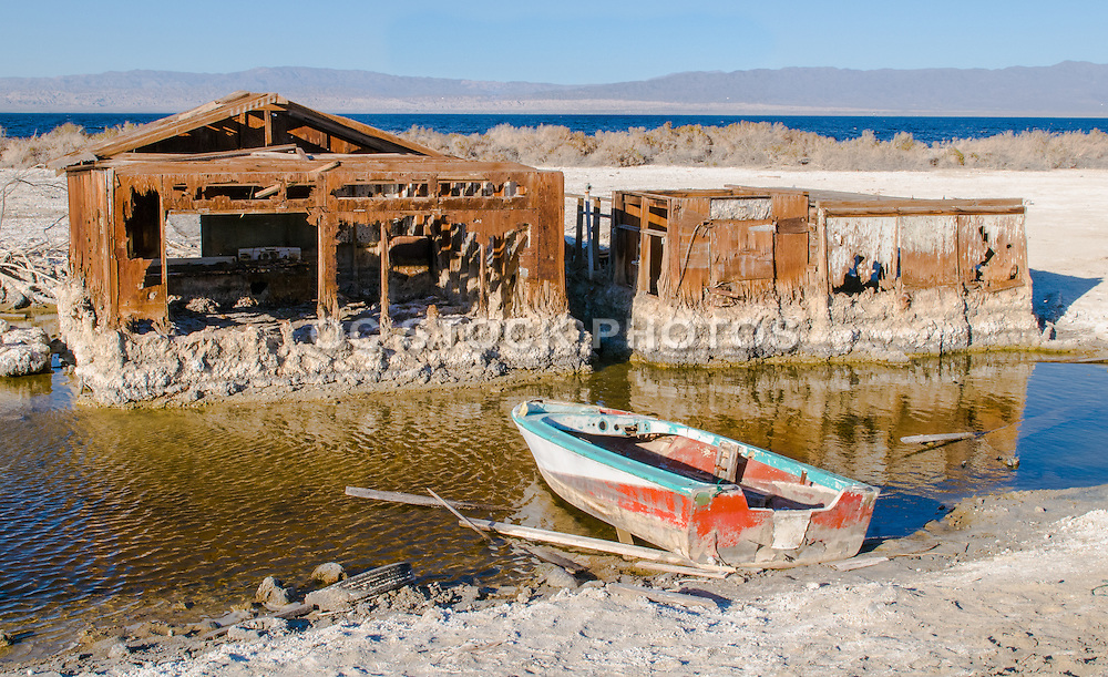 Salton Sea Landscape Stock Photo