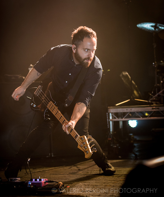 Nick Harmer of Death Cab For Cutie Playing live at the Brixton Academy in London on 4 Nov 2015 supporting Kintsugi