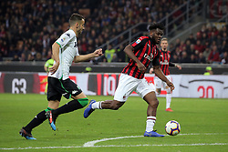 March 2, 2019 - Milan, Milan, Italy - Frank Kessie #79 of AC Milan in action during the serie A match between AC Milan and US Sassuolo at Stadio Giuseppe Meazza on March 02, 2019 in Milan, Italy. (Credit Image: © Giuseppe Cottini/NurPhoto via ZUMA Press)